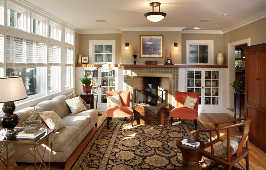 Aune/Miller Residence: A view of the living room