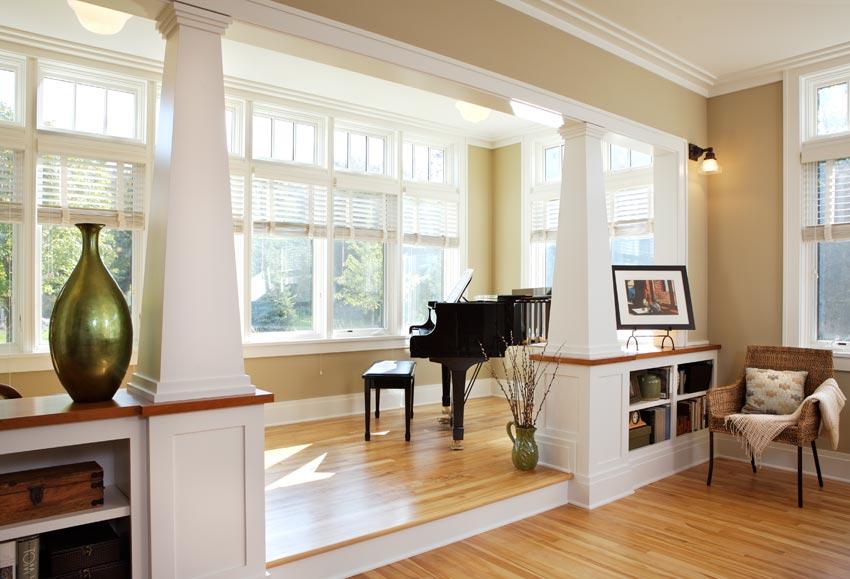 Aune/Miller Residence: A raised platform for music