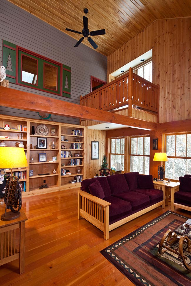 Gorham Ski Shack: A view of the living area and loft