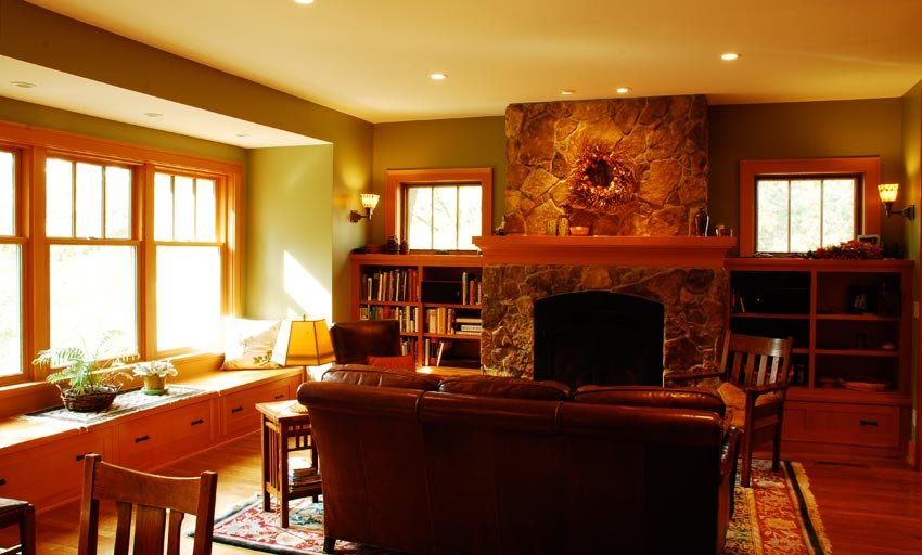Habeck/Steen Residence: The family room