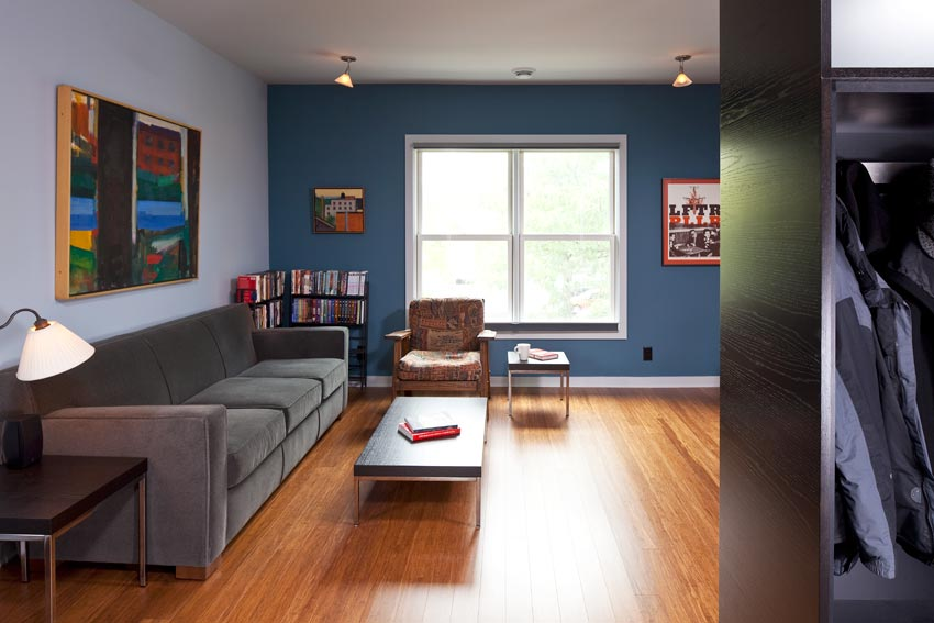 McBoal St. Apartments: The upstairs living room