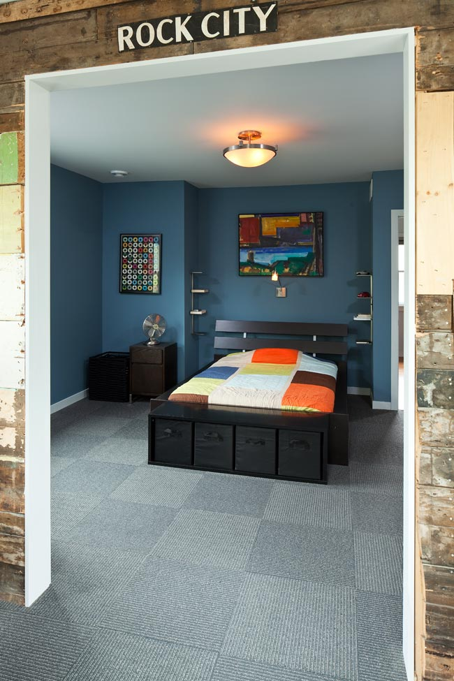 McBoal St. Apartments: Looking from the writing studio to the bedroom
