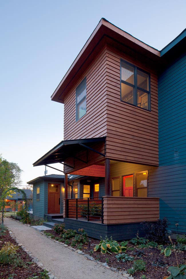 McBoal St. Apartments: The writer's studio perched above the porch